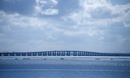 Pont de l'horizon Photo libre de droits