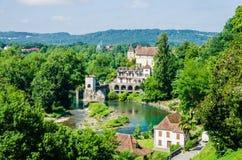 Pont de la Legende on the Gave d'Oloron Royalty Free Stock Images