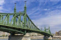 Pont de la liberté à Budapest Images libres de droits