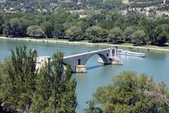 pont de la passerelle d d'avignon Photographie stock libre de droits