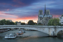 Pont de la Tournelle. Royalty Free Stock Image