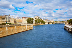 Pont de la Tournelle over Seine river of Paris Stock Image