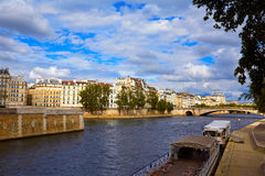 Pont de la Tournelle over Seine river of Paris Royalty Free Stock Image