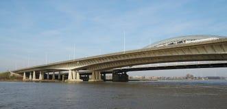 Pont de Lekbrug près de Vianen, Pays-Bas photographie stock
