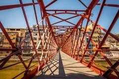 Pont De Les Pescateries Velles, Girona Hiszpania Obraz Royalty Free