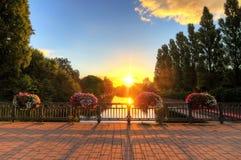 Pont de lever de soleil d'Amsterdam Photo stock