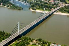 Pont de liberté à Novi Sad photographie stock libre de droits