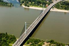 Pont de liberté à Novi Sad photo libre de droits