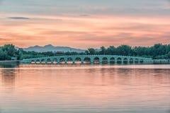pont de lion de 17 voûtes Image libre de droits