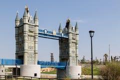 Pont de Londres au parc d'Europa Images libres de droits