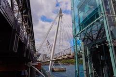 Pont de Londres Waterloo en Tamise Image libre de droits