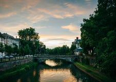 Pont de losu angeles poczta przy sunet w Strasburg Fotografia Stock