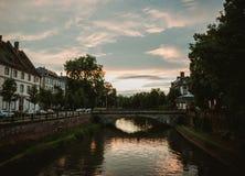 Pont de losu angeles poczta przy sunet w Strasburg Obrazy Royalty Free