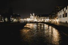 Pont de Lucerne Suisse photographie stock libre de droits