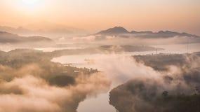 Pont de lundi, Sangkhlaburi, Kanchanaburi, Thaïlande, Asie Photos libres de droits