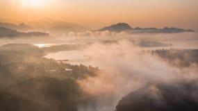 Pont de lundi, Sangkhlaburi, Kanchanaburi, Thaïlande, Asie Photos stock