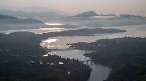 Pont de lundi, Sangkhlaburi, Kanchanaburi, Thaïlande, Asie Image libre de droits
