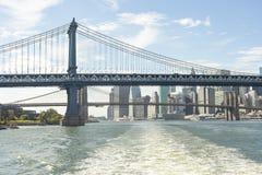 Pont de Manhattan en ville de Front Of Lower Manhattan New York Photo stock