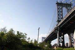 Pont de Manhattan et le parc Image stock