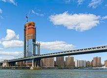 Pont de Manhattan et Manhattan, New York City, Etats-Unis Image libre de droits