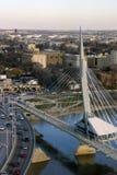 Pont de marche d'Espanade Riel images libres de droits