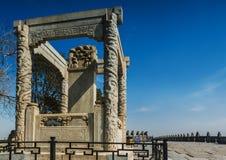 Pont de Marco Polo wanping dans Pékin Image libre de droits