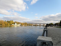 Pont de Merefa-Kherson Photos libres de droits