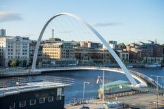 Pont de millénaire de Gateshead image libre de droits