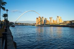 Pont de millénaire de Gateshead photographie stock