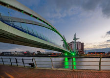 Pont de millénaire, Manchester, Angleterre, R-U photographie stock libre de droits