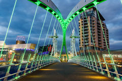 Pont de millénaire - Salford, plus grand Manchester, Angleterre photographie stock libre de droits
