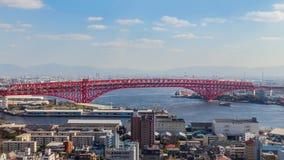 Pont de Minato à Osaka, Japon Photo stock