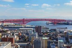 Pont de Minato à Osaka, Japon Images libres de droits