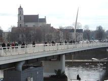 Pont de Mindaugas Images libres de droits