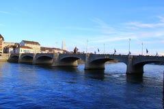 Pont de Mittlere à Bâle Photographie stock libre de droits