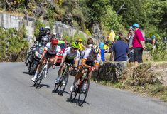 The Breakaway - Tour de France 2018 royalty free stock photo