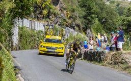 The Cyclist Thomas Boudat - Tour de France 2018 stock image