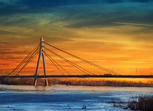 Pont de Moskovskyi Moscou Image stock