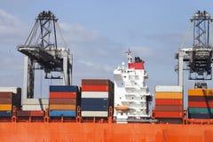 Pont de navire porte-conteneurs Photos libres de droits