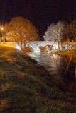 Pont de Nethy par nuit Photos stock