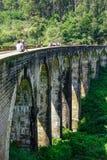 Pont de neuf voûtes en Ella, Sri Lanka photographie stock libre de droits