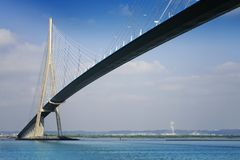 Pont DE Normandië over rivierZegen, Frankrijk Stock Fotografie