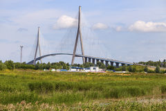 Pont de Normandie在勒阿弗尔 免版税库存图片