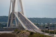 Pont de Normandie, bridge crossing river Seine in France Stock Images