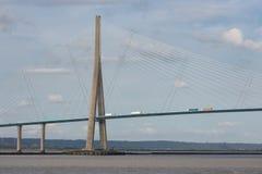 Pont de Normandie, bridge over river Seine in France Stock Photo