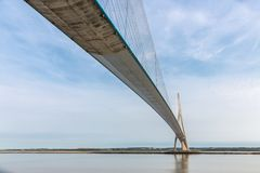 Pont de Normandie over river Seine in France Stock Photography