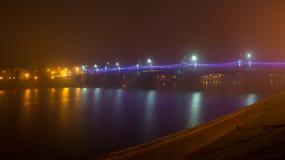 Pont de Novovolzhsky au-dessus du Volga Construit en 1956 Photographie stock