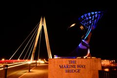 Pont de nuit. Images libres de droits