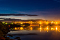 Pont de nuit Photos stock