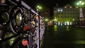Pont de nuit image stock